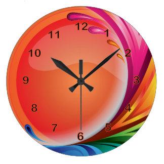 Reloj Redondo Grande Extracto retro colorido brillante