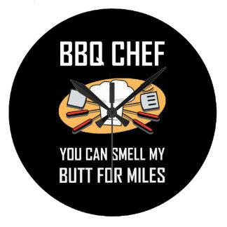 Reloj Redondo Grande Extremos del olor del cocinero del Bbq