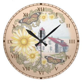 Reloj Redondo Grande Faro de la mariposa