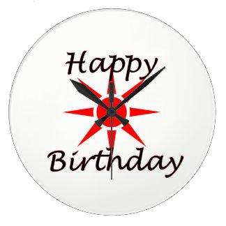 Reloj Redondo Grande Feliz cumpleaños