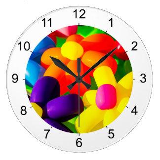 Reloj Redondo Grande Flores de globo del juguete