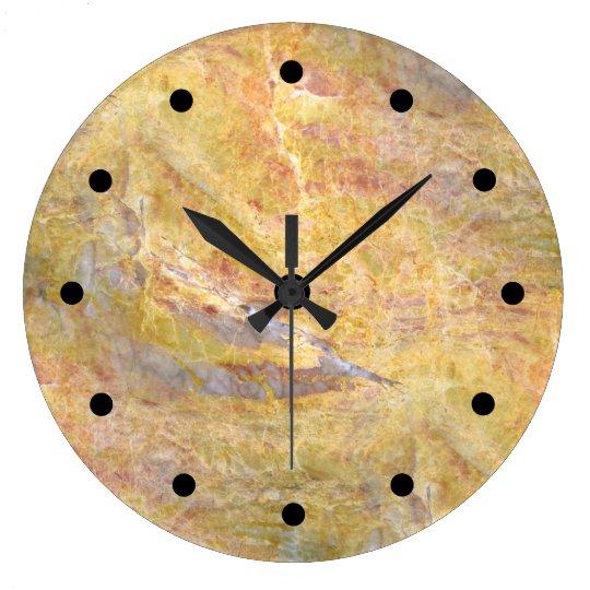 Reloj Redondo Grande Fondo de piedra moderno