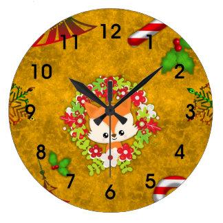 Reloj Redondo Grande Fox lindo del navidad