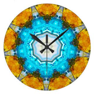 Reloj Redondo Grande Fractal de Sputnik