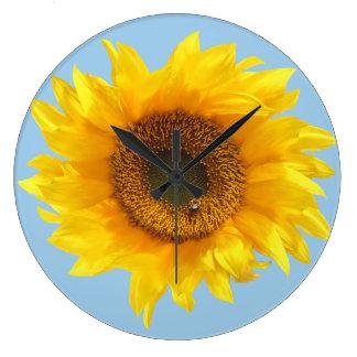 Reloj Redondo Grande girasol amarillo