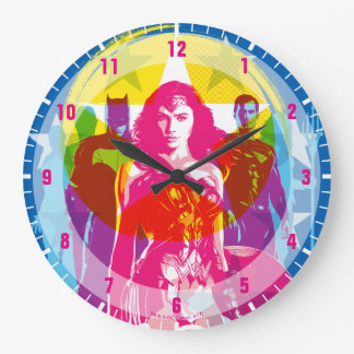 Reloj Redondo Grande Grupo de la liga de justicia el | y arte pop