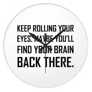 Reloj Redondo Grande Guarde el rodar del cerebro del hallazgo de los