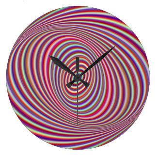 Reloj Redondo Grande Hipnosis de neón