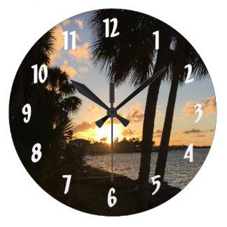 Reloj Redondo Grande Hogar dulce casero de la playa
