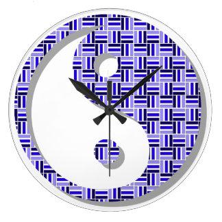 Reloj Redondo Grande Hora para la balanza: Yin y Yang