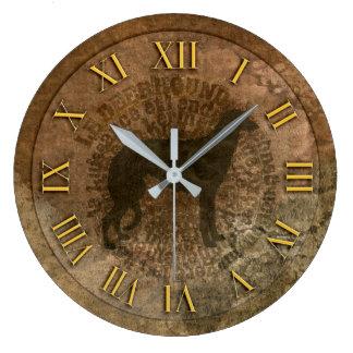Reloj Redondo Grande Horloge scottish deerhound