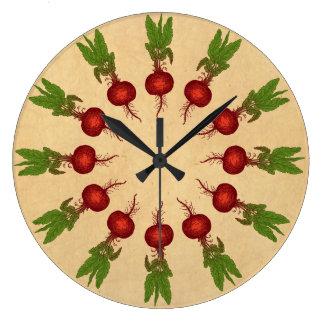 Reloj Redondo Grande Ilustracion de las remolachas