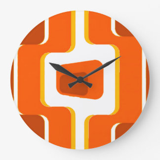 Reloj Redondo Grande Impresión de la MOD de los años 50 del vintage