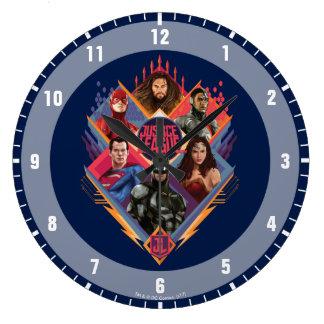 Reloj Redondo Grande Insignia del grupo de la portilla del diamante de