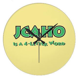 Reloj Redondo Grande JCAHO es una palabra 4-Letter