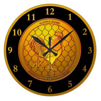 Reloj Redondo Grande KatkaKoin Cryptocurrency ICO
