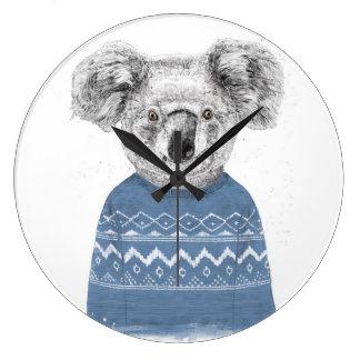 Reloj Redondo Grande Koala del invierno