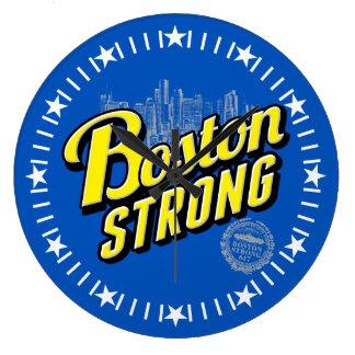 Reloj Redondo Grande La ciudad de Boston fuerte recuerda en el dial
