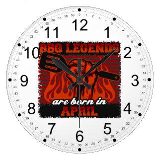 Reloj Redondo Grande Las leyendas del Bbq nacen en abril
