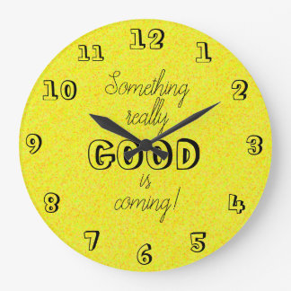 Reloj Redondo Grande Las palabras positivas de la diversión diseñan
