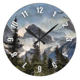 Reloj Redondo Grande Las tres hermanas - montañas rocosas canadienses
