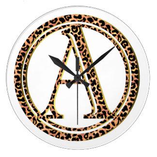 Reloj Redondo Grande leopardo A