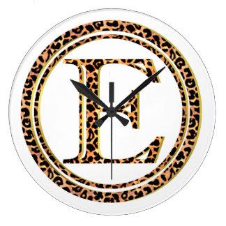 Reloj Redondo Grande leopardo E