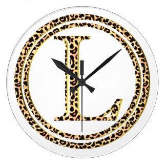 Reloj Redondo Grande leopardo L