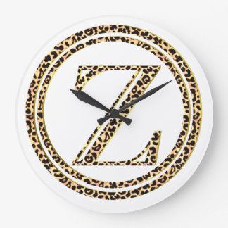 Reloj Redondo Grande Leopardo Z