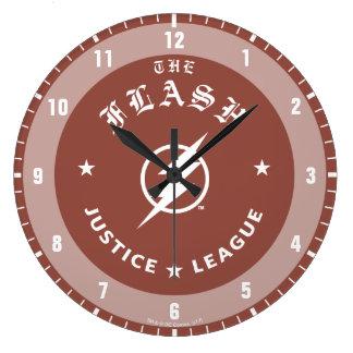 Reloj Redondo Grande Liga de justicia el | el emblema retro de destello