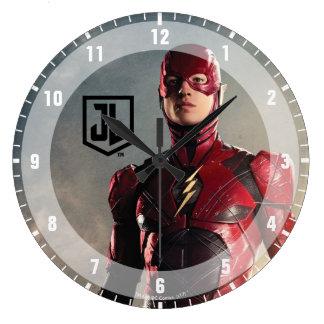 Reloj Redondo Grande Liga de justicia el | el flash en campo de batalla