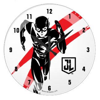 Reloj Redondo Grande Liga de justicia el | el flash que corre arte pop