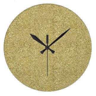 Reloj Redondo Grande Lona del oro