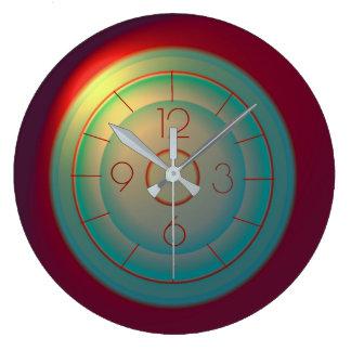 Reloj Redondo Grande Los efectos luminosos rojos > la diversión verdes
