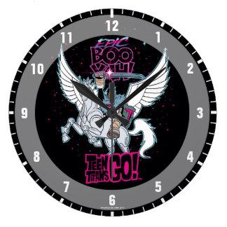 Reloj Redondo Grande ¡Los titanes adolescentes van! Cyborg del guerrero