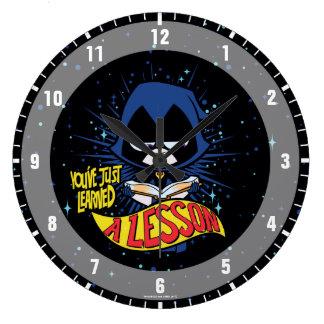 Reloj Redondo Grande ¡Los titanes adolescentes van! El cuervo del |