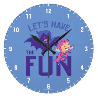 Reloj Redondo Grande ¡Los titanes adolescentes van! Los | Starfire y
