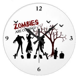 Reloj Redondo Grande Los zombis están viniendo