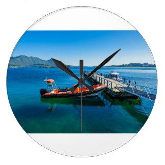 Reloj Redondo Grande Macho del aterrizaje y barco de la velocidad
