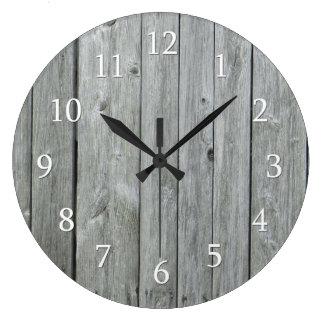 Reloj Redondo Grande Madera rústica del país