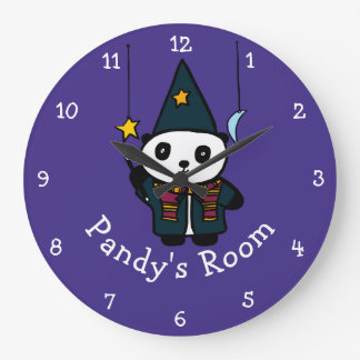 Reloj Redondo Grande Mago personalizado Pandy la panda