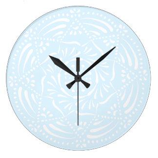 Reloj Redondo Grande Mandala ártica