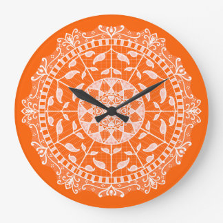 Reloj Redondo Grande Mandala de la amapola