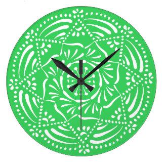 Reloj Redondo Grande Mandala de la primavera