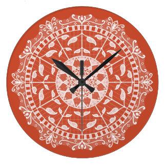 Reloj Redondo Grande Mandala de la terracota