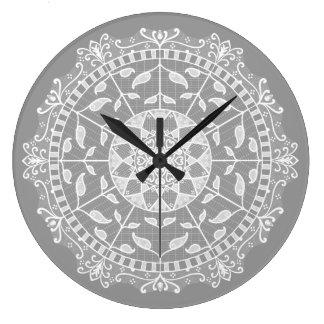 Reloj Redondo Grande Mandala de piedra