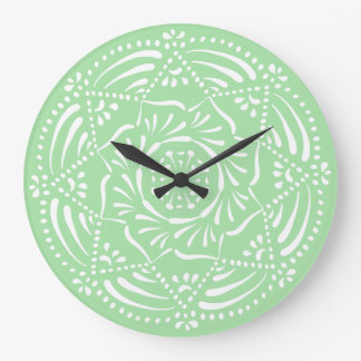 Reloj Redondo Grande Mandala de Seafoam