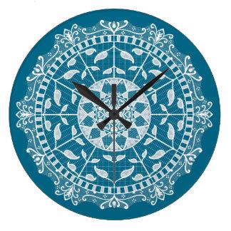 Reloj Redondo Grande Mandala de Tidepool