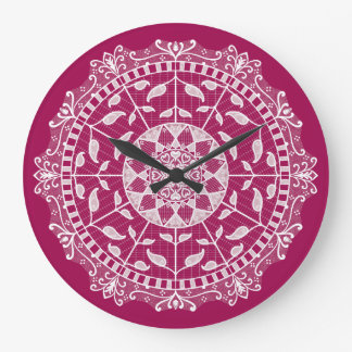 Reloj Redondo Grande Mandala del vino