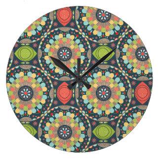 Reloj Redondo Grande Mandalas